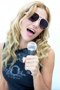blond female vocalist