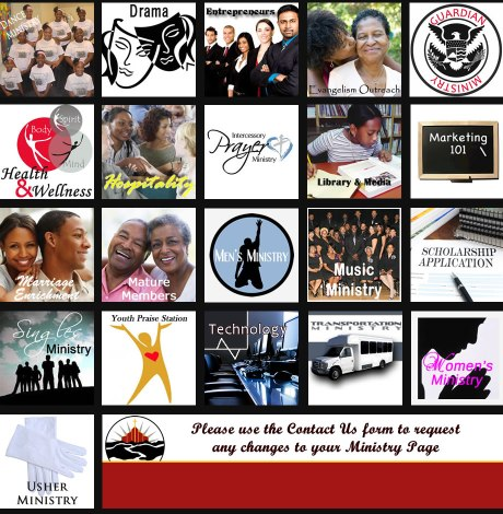 The Ministry Page from the Friendship Baptist Church website.