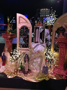 One of the many unusual  Tabernacle decorations at Glory of Zion