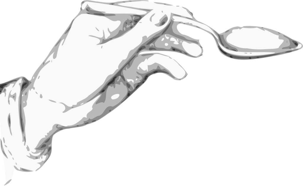 Image Courtesy of Creative Commons https://openclipart.org/people/zeimusu/zeimusu_Hand_holding_a_spoon.svg""