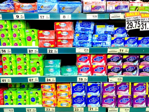 © Junpinzon | Dreamstime.com - Feminine Napkins Sold In Grocery Photo