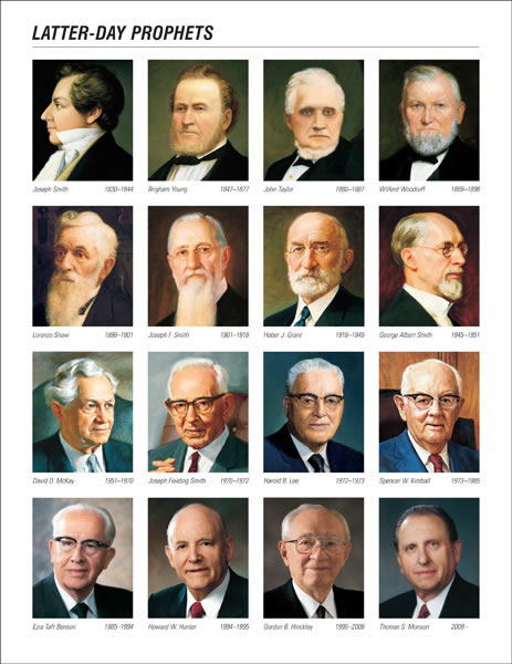Latter Day Prophets, courtesy of mormonthink.com