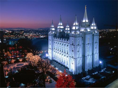 Mormon Temple, Courtesy of mormonwiki.com