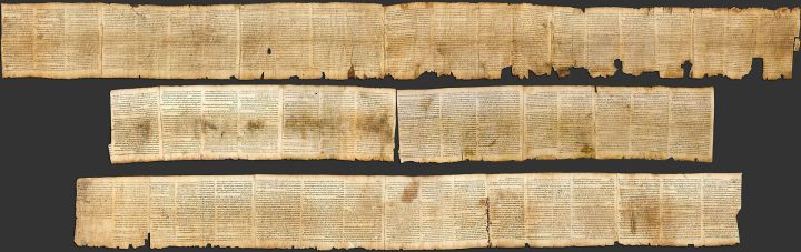 Isaiah Scroll, found at the Dead Sea, 2nd Century BCE